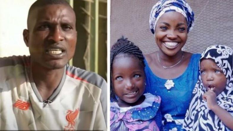 ნიგერიელი ქალი ორი შვილით ქმარმა ცისფერი თვალების გამო მიატოვა